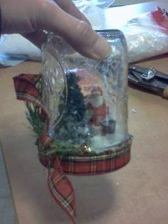 my snowglobe without water - just fake snow