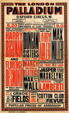 Más tamaños | Vaudeville Poster July 12, 1937 | Flickr: ¡Intercambio de fotos!