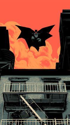Batman Jump iPhone 6 / 6 Plus wallpaper
