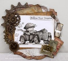 Passion Creations: Toot Toot.....LOTV Design Collective Card