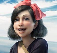 CGTalk - Kiki flying (Ghibli Fanart), Gustavo Rios (3D) Kiki Delivery, Animation Film, Ghibli, Rio, Fanart, Image, Fan Art
