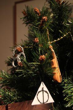 Sherlock and Harry Potter Christmas ornaments