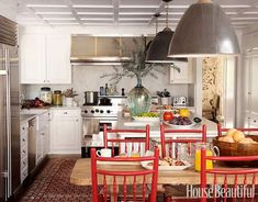 Casual and Classic American: A kitchen that dates back to the 1920s.