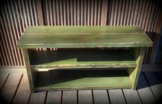 42 Shoe Rack Bench Rustic Green by TheHenryHouse on Etsy