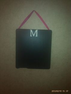 Wash machine lid (magnetic), chalkboard paint, My hubby did the M...