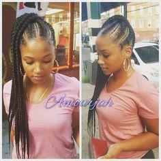 5 Gorgeous Twist Braid Styles that you will Surely Love Feed In Braids Hairstyles, Braids For Short Hair, Box Braids Hairstyles, Long Braids, Hairstyles 2018, Hairdos, Summer Hairstyles, Cornrow Braid Styles, Twist Braids