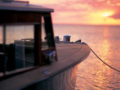 Boating into the sunset - Little Palm Island Resort & Spa, (just off Little Torch Key on the Florida Keys coastline)