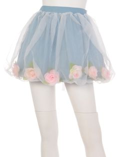 cute patel flower skirt. lolita fashion. decora fashion