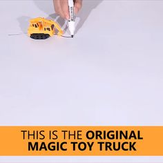 Your kids are sure to be amazed by the Magic Toy Truck! This amazing toy is uniquely designed to move according to black lines drawn on paper. Simply draw a line on a blank piece of paper and enjoy as Fun Activities For Kids, Toy Trucks, Learning Toys, Creative Kids, Diy Toys, Cool Gadgets, Educational Toys, Cool Toys, Easy Crafts