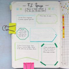 Anatomie d'un Bullet Journal - Malika - Pint Bujo Planner, Agenda Planner, Free Planner, Planner Ideas, Organization Bullet Journal, Planner Organization, Filofax, Bullet Journal Décoration, Planners