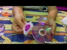 Tutorial - How to make mandala with CD Old Cd Crafts, Tin Can Crafts, Vbs Crafts, Diy Crafts To Sell, Arts And Crafts, Recycled Cds, Recycled Crafts, How To Clean Cds, Disco Cd