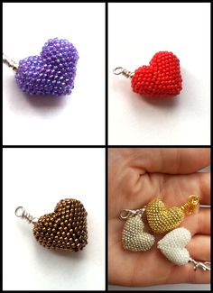 bizuteria-blond Beading Projects, Beading Tutorials, Beaded Jewelry Patterns, Beading Patterns, Beaded Crafts, Jewelry Crafts, Homemade Jewelry, Pony Beads, Beads And Wire