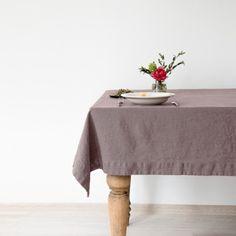Leinentischtuch vorgewaschen in 4 Größen und 10 Farben von Linen Tales
