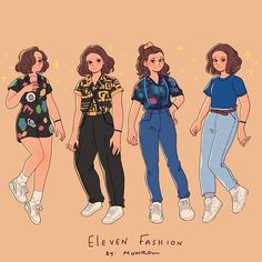 Things outfit 🌼 I loved Eleven's outfits on season 3 of Stranger Things . Which one if yo. 🌼 I loved Eleven's outfits on season 3 of Stranger Things . Which one if your favorite? I'm obsessed with the yellow shirt and the black… Stranger Things Kids, Bobby Brown Stranger Things, Stranger Things Season 3, Stranger Things Aesthetic, Stranger Things Costumes, Stranger Things Halloween Costume, Disfraces Stranger Things, Kleidung Design, Dibujos Cute