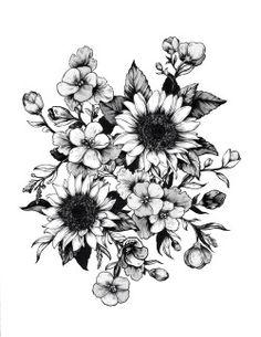 drawing art Black and White design draw tattoos inked tattoo artist flower flowers ink flower tattoo flowertattoo
