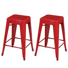 Joveco 30 Inches Sheet Metal Frame Tolix Style Industrial Chic Chair Backless Bar Stool - Set of 2 (White) Wholesale Price Available Industrial Counter Stools, Counter Height Bar Stools, 24 Bar Stools, Metal Bar Stools, Swivel Bar Stools, Bar Counter, Industrial Chic, Portable Kitchen Island, Kitchen Island With Seating