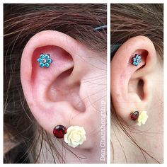 Ear piercing by APP member Dan Chanthongthip of Fidelity Tattoo Company in Maryland.