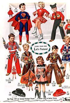 1955 fantasias para crianças