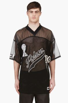 Ktz Black Mesh Oversized Jersey for men | SSENSE