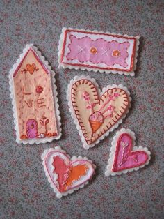 Adorable hand stitched tags!
