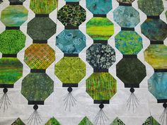 flowers, chinese lantern quilt top 008 | Flickr - Photo Sharing!