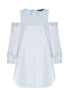 Cut-out shoulder cotton tunic | Tibi | MATCHESFASHION.COM US