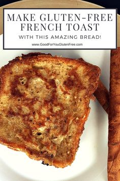 Delicious French Toast with Three Bakers Gluten Free Bread Gluten Free Recipes For Breakfast, Best Gluten Free Recipes, Gluten Free Dinner, Gluten Free Breakfasts, Gf Recipes, Dessert Recipes, Brunch Recipes, Gluten Free French Toast, Paleo Treats