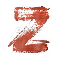 letter z: Z - Red letters over white background Stock Photo