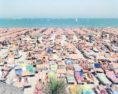 By Massimo Vitali  I couldn't resist sharing Massimo Vitali's series of Italian beach panoramas. Although his large format photos simply depict masses of people at leisure, there is an undeniably alluring aesthetic to them.
