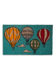 Looking Up Doormat - Blue, Multi, Dorm Decor, Novelty Print