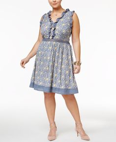 Disney Beauty and the Beast Trendy Plus Size Printed Fit & Flare Dress - Dresses - Plus Sizes - Macy's
