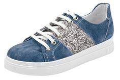 Andrea Conti Sneaker für 49,90€. Mix aus Jeansware und Glitter, Sneaker-Optik modern und neu interpretiert bei OTTO