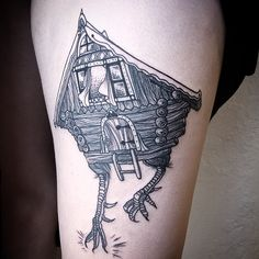 Baba Yaga's House - Jamie molin tattoo