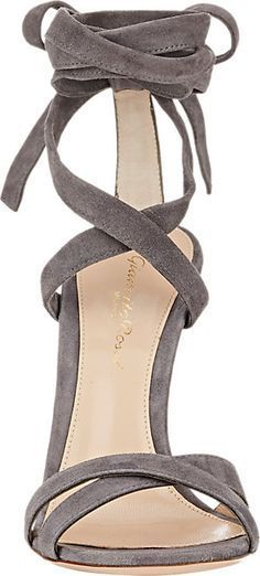 Gianvito Rossi Lucite® Heel Ankle-Tie Sandals  #Heels #lucite #shoes