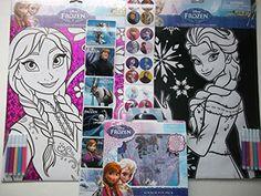 Disney Frozen Anna & Elsa Coloring Sheets with Markers + One Disney Frozen Sticker Fun Pack with Background Scene-bundle of 3 Plus 2 Free Strips of Frozen Stickers Disney http://www.amazon.com/dp/B00QVYHZBG/ref=cm_sw_r_pi_dp_JPGIub1EPPBV2