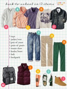 Cardigan Empire- Back to School in 13 items for boys