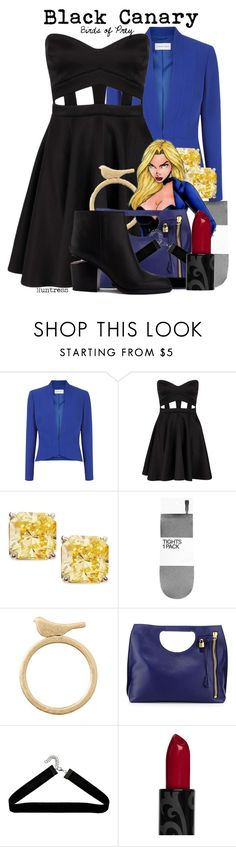 """""""Black Canary (Birds of Prey) >>Huntress"""" by thefandomnetwork ❤ liked on Polyvore featuring Fenn Wright Manson, Boohoo, Fantasia by DeSerio, H&M, Banana Republic, Religion Clothing, Tom Ford, Alexander Wang and birdsofprey"""