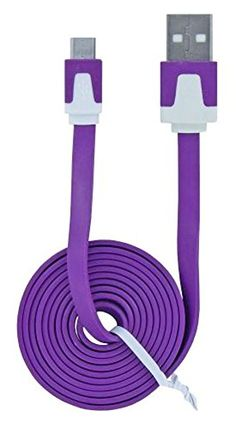 """myLife Wisteria Purple {Tangle-Free Noodle Design} 6' Feet (1.8 Meter) Quick Charge USB 2.0 Micro USB to USB Data Sync Cord for Phones, Cameras, Tablets and GPS Devices """"SEE COMPATIBILITY"""" (Durable Rubber Coat) myLife Brand Products http://www.amazon.com/dp/B00NY1OM8S/ref=cm_sw_r_pi_dp_YO9tub0XGTXM1"""