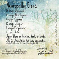Neuropathy Blend for more information contact Wendy Woodard @ backtolifeessentialoils@gmail.com