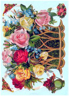 Flower Baskets, Flowers, Painting, Art, Art Background, Painting Art, Kunst, Paintings, Performing Arts
