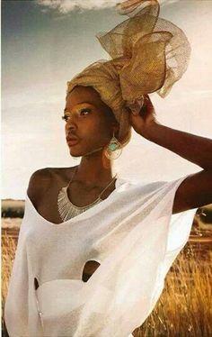 Woman from Ghana in her head wrap