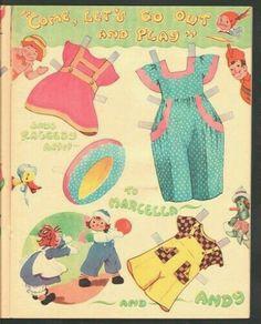 Raggedy Ann Andy Paper Dolls