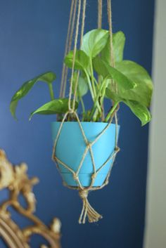 Make it: DIY Twine Macrame Plant Hanger | Chicks Who Give A Hoot