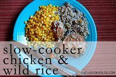 Crock-Pot Chicken & Wild Rice---4 ingredients and barely any prep work!