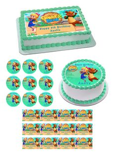 Goldie & Bear 1 Edible Birthday Cake Topper