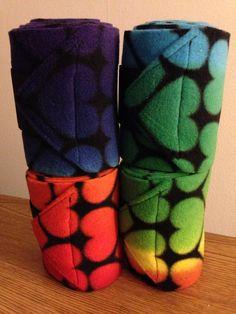 Bright Heart Polo Wraps (set of four), Leg Wraps on Etsy, $14.95