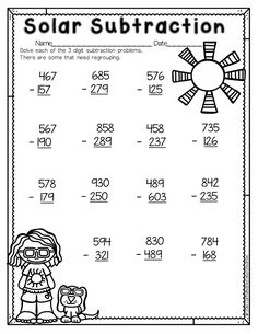 Your students will soon shine bright at regrouping. Solar Subtraction is included in a Second Grade No Prep Earth Day Mini Unit as well as a Spring Second Grade ELA and Math Unit. Both units are geared towards second grade, but can be used for first grade superstars or struggling third graders.