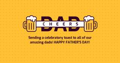Cheers Dad Father's Day Facebook Post Template -- #FacebookMarketingTips #DesignFacebookTemplates #FacebookPostTemplates #FreeFacebookTemplates #EditableFacebookTemplates #SocialMediaTemplates #SocialMediaMarketing -- Supercharge your Facebook engagement with unique, eye-catching Facebook templates. Create highly engaging Facebook and social media graphics with Venngage!