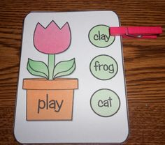 Rhyming clothespin activity