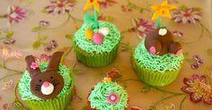 Nussige Möhren Cupcakes mit einem Hauch Orange